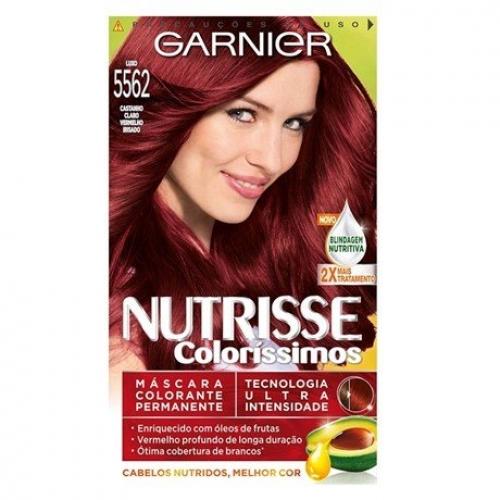 TINTURA GARNIER NUTRISSE 5562 CASTANHO CLARO VERMELHO IRISADO