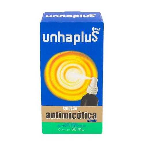 Unhaplus spray solução antimicótica para tratamento de unha com 30 ml