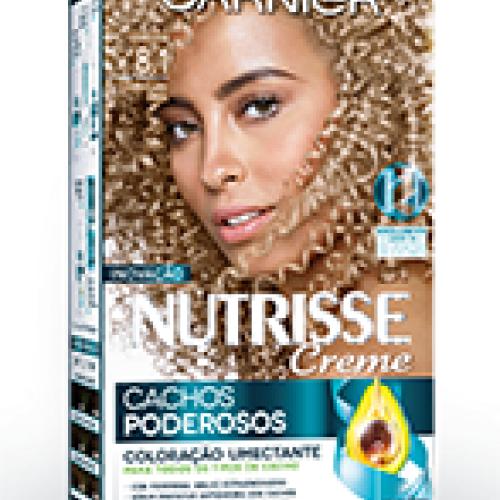 Coloração Creme Garnier Nutrisse 8.1 Louro Claro Cinza