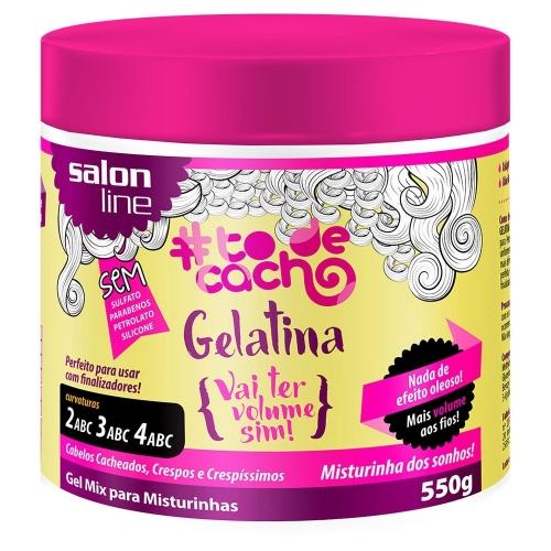 Gel Mix para Misturinhas Gelatina Vai Ter Volume Sim! 550g Salon Line