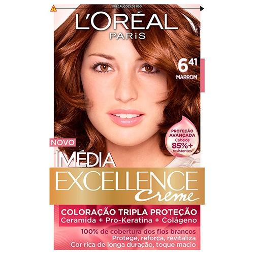 Tintura Imédia Excellence 6.41 Marrom 47g - L'oréal