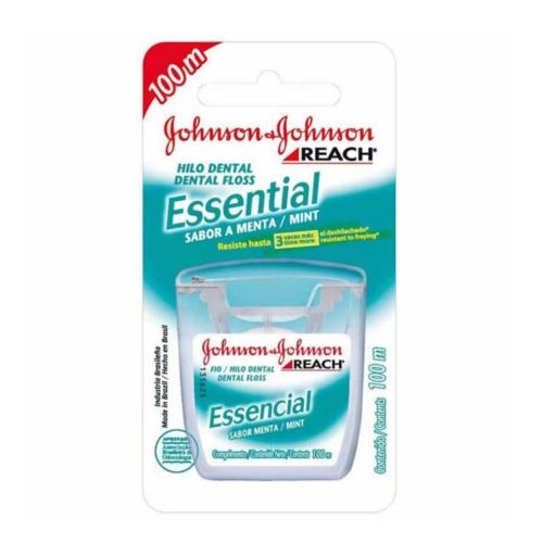 Fio Dental Johnson & Johnson Essencial Sabor Menta 100m