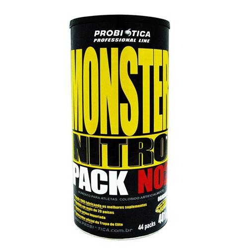 Monster Nitro Pack NO2 Probiótica com 44 Packs