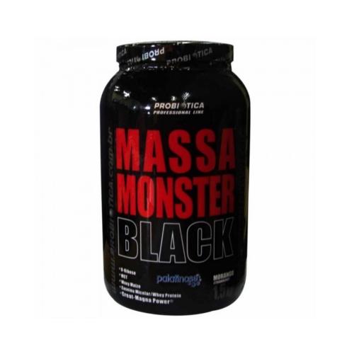 Massa Monster Black Probiotica Sabor Morango com 1,5kg