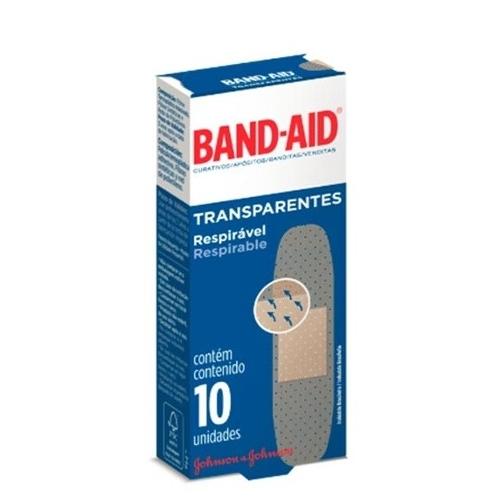 Curativos Band-aid Transparentes 10 unid.