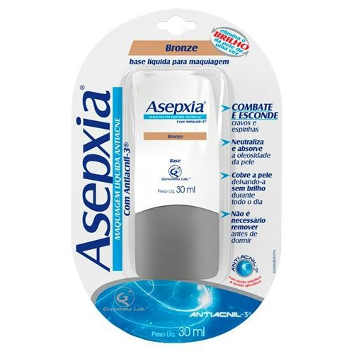 Asepxia Maquiagem Liquida Bronze 30ml
