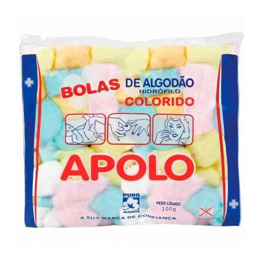 ALGODÃO BOLAS COLORIDAS APOLO 100GR