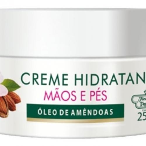 CREME HIDRATANTE MÃOS E PÉS ÓLEO DE AMÊNDOAS 250GR