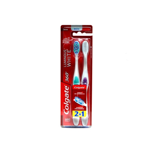 ESCOVA DENTAL COLGATE LUMINOUS WHITE MACIA 2 UNID