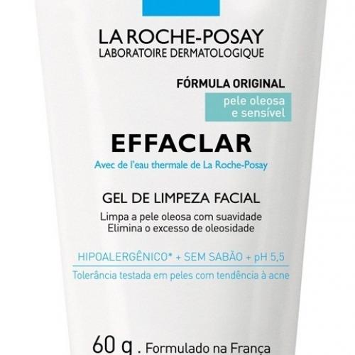 La Roche-Posay Effaclar Gel de Limpeza Facial Pele Oleosa e Sensível 60g