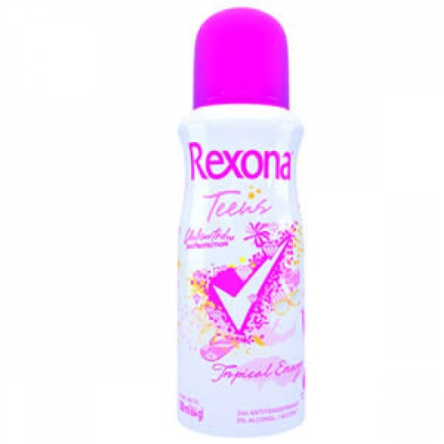 Desodorante aerosol Rexona Teens Tropical Energy com 108 ml