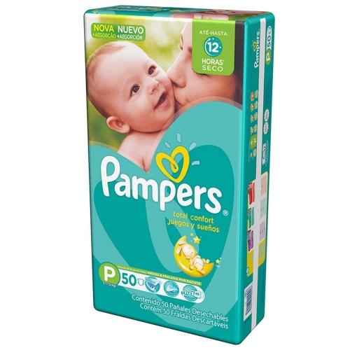 Fralda Pampers Total Confort Mega P c/ 50 unidades
