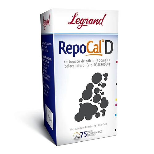 REPOCAL D 500MG+200UI CX 75 COMPR