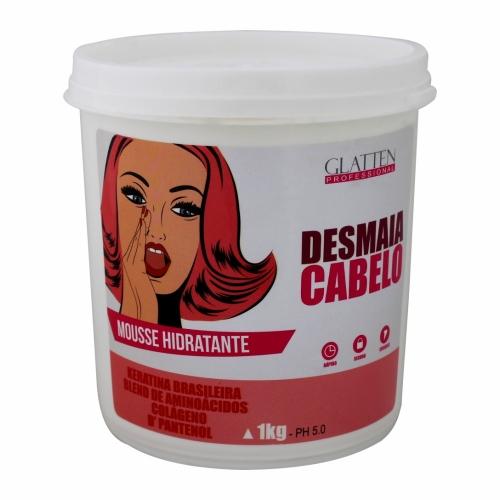Máscara Mousse Hidratante Desmaia Cabelo Glatten 1Kg