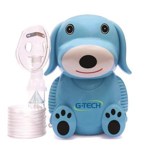 Inalador e Nebulizador G-TECH Modelo NebDog Azul