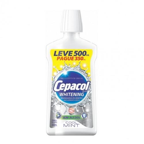 ENXAGUANTE BUCAL CEPACOL WHITENING LEVE 500ML PAGUE 350ML