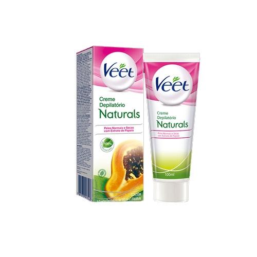 Creme Depilatório Veet Naturals para Peles Normais a Secas com 100 ml
