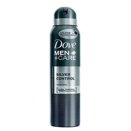 Desodorante aerosol Dove Men Care Silver Control 150 ml