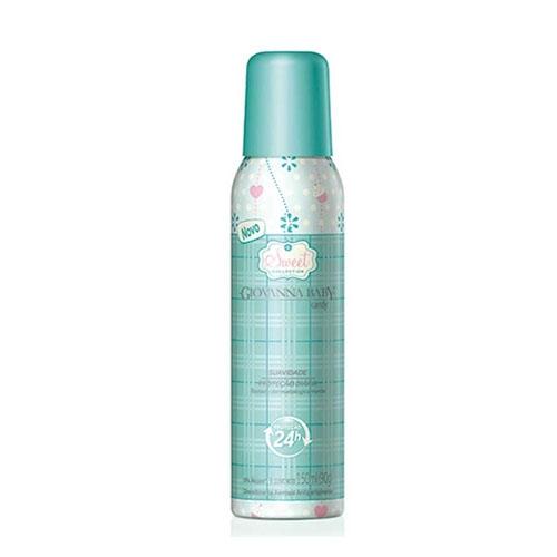 Desodorante aerosol Giovanna Baby Candy com 150 ml