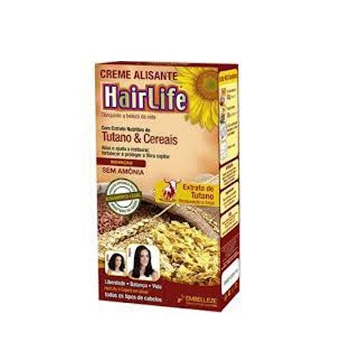 Creme Alisante HairLife Sem Amônia com Extrato de Tutano e Cereais
