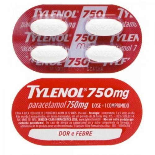 TYLENOL 750MG 4 COMPR