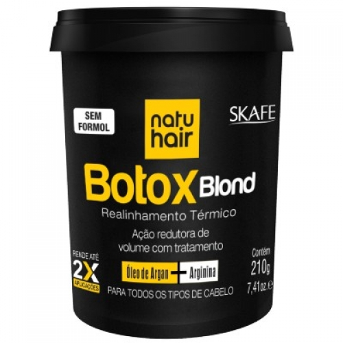 Redutor de Volume Skafe Natu Hair Botox Blond 210g