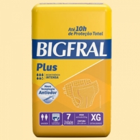 FRALDA GERIÁTRICA BIGFRAL PLUS XG 7 UNID