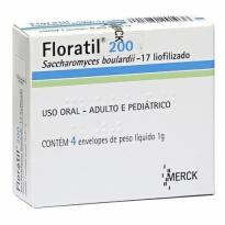 Floratil 200 mg Pó 4 Envelopes