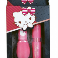 KIT HELLO KITTY ESMALTE + BATOM MATTE