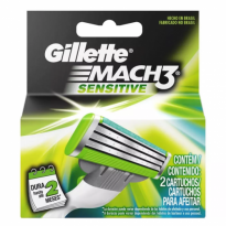 CARGA GILLETTE MACH 3 SENSITIVE 2 UNID