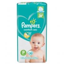 FRALDA PAMPERS CONFORT SEC TAM P 50 UNID