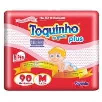 FRALDA TOQUINHO PLUS TAM M 90 UNID