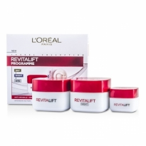 Kit L'Oreal Revitalift Programme: Creme diurno + Creme p/ os olhos + Creme noturno Skincare