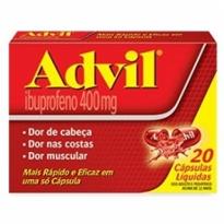 Advil 400mg 20 Cápsulas Liquidas