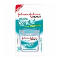 Fio Dental Johnson & Johnson Essencial Sabor Menta com 100 m