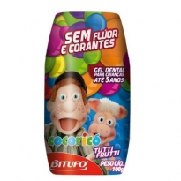 Gel Dental Cocoricó sem Flúor Sabor Tutti-Frutti 100g