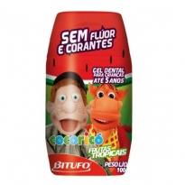 Gel Dental Cocoricó sem Flúor Sabor Frutas Tropicais 100g
