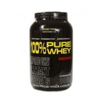 Pure Whey 100% Probiotica Sabor Morango com 900g