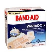 Curativos Band-Aid Variados 40 Unid.