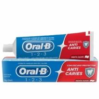 Creme Dental Oral B Anti-caries Menta Suave 70g