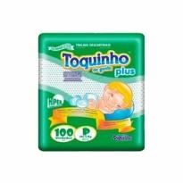 FRALDA TOQUINHO PLUS TAM P 100 UNID