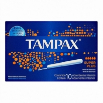 ABSORVENTE INTERNO TAMPAX SUPER PLUS 10 UNID