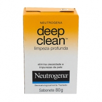 SABONETE NEUTROGENA DEEP CLEAN LIMPEZA PROFUNDA 80GR