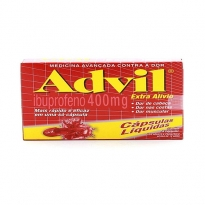 Advil 400 mg com 8 cápsulas