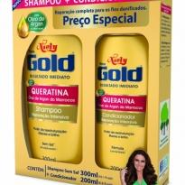 Kit Niely Gold Queratina Shampoo 300ml+Condicinador 200ml