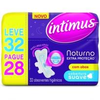 Absorvente Intimus Noturno Suave Extra Proteção c/ Abas 32 UNID