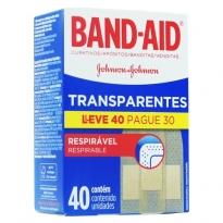 CURATIVOS BAND-AID TRANSPARENTE 40 UNID