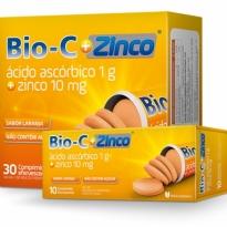 BIO-C + ZINCO SABOR LARANJA 30 COMPRIMIDOS EFERVESCENTES