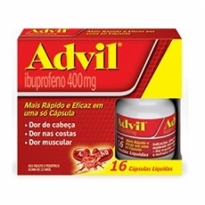 Advil 400mg 16 Cápsulas Líquidas