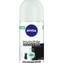 DESODORANTE ROLL-ON NIVEA INVISIBLE FOR BLACK & WHITE FRESH ERVA DOCE 50ML